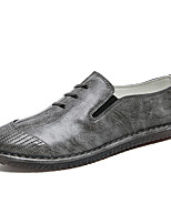 cheap -Men's Shoes Leatherette Leather Spring Summer Comfort Loafers & Slip-Ons for Casual Black Gray Red