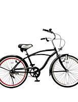 cheap -Cruiser Bike Comfort Bike Cycling 1 Speed 24 Inch Bike Side-pull Caliper Brake Non-Damping Ordinary PVC PVC/Vinyl Steel Tube Aluminum
