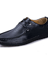 cheap -Men's Shoes Cowhide Spring Summer Driving Shoes Comfort Oxfords for Casual Office & Career Black Light Brown Dark Brown