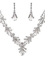 cheap -Women's Jewelry Set Drop Earrings Choker Necklace Bridal Jewelry Sets Crystal Cubic Zirconia Rhinestone Pearl Austria Crystal Imitation