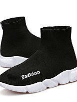 cheap -Girls' Boys' Shoes Knit Tulle Spring Summer Light Soles Comfort Athletic Shoes Running Shoes for Casual Outdoor Black Red