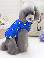 cheap -Dogs Cats Sweatshirt Cloth Dog Clothes Other Dark Blue Blue Padded Fabric Cotton Fabric Polar Fleece Costume For Pets Casual/Daily