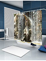 cheap -Shower Curtains & Hooks Contemporary Country Polyester Animal Machine Made Waterproof