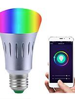 cheap -JIAWEN 1pc 7W 600 lm E26/E27 LED Smart Bulbs 14 leds SMD 3528 Smart Dimmable APP Control Remote-Controlled RGB White 110-120V 220-240V