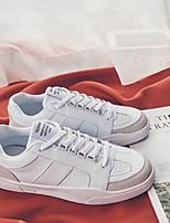 Недорогие -Муж. обувь Дерматин Весна Осень Удобная обувь Кеды для Повседневные Белый Черный