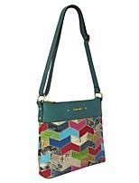 cheap -Women's Bags Cowhide Shoulder Bag Zipper Ruffles for Shopping Casual Office & Career Outdoor All Seasons Light Green Dark Green Army Green