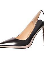 preiswerte -Damen Schuhe PU Frühling Sommer Pumps Komfort High Heels Stöckelabsatz Geschlossene Spitze Spitze Zehe Perlenstickerei für Büro &