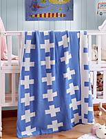 baratos -Tricotado, Fios Tingidos Geométrica Algodão cobertores