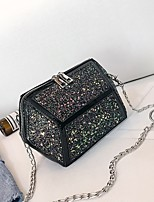 cheap -Women's Bags PU Shoulder Bag Zipper for Casual Black / Blushing Pink / Rainbow