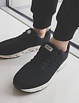 baratos -Homens sapatos Tule Verão Conforto Tênis para Casual Branco Preto