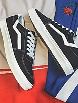 abordables -Homme Chaussures Toile Printemps Automne Confort Basket pour Décontracté Blanc Noir Rouge