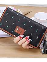 cheap -Women's Bags PVC Wallet Zipper for Casual All Seasons Blue Black Blushing Pink Almond