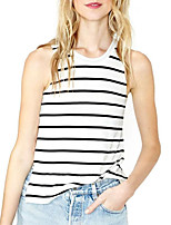 cheap -Women's Holiday Active Cotton T-shirt - Striped