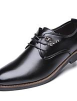 baratos -Homens sapatos Couro Primavera Outono Conforto Oxfords para Casual Preto