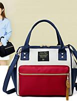cheap -Women's Bags Oxford Cloth Shoulder Bag Zipper for Casual White / Black / Dark Blue
