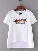 abordables -Tee-shirt Femme, Imprimé - Coton Mignon