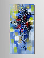 cheap -Hand-Painted Abstract Vertical, Modern Canvas Oil Painting Home Decoration One Panel