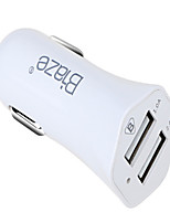 cheap -Car Charger Phone USB Charger USB Multi-Output QC 2.0 2 USB Ports 1.0A DC 12V-24V