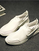 baratos -Homens sapatos Tecido Verão Conforto Tênis para Casual Branco Preto