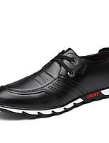 preiswerte -Herrn Schuhe Lackleder Frühling Herbst Komfort Sneakers für Normal Büro & Karriere Schwarz Braun Blau