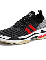 cheap -Men's Shoes Knit Spring Summer Comfort Sneakers for Casual Outdoor White Black Black/Red
