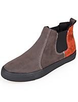 abordables -Homme Chaussures Similicuir Hiver Automne Confort Basket pour Décontracté Noir Orange Gris