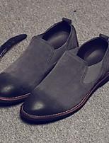 Недорогие -Муж. обувь Замша Осень Зима Удобная обувь Мокасины и Свитер для Повседневные Черный Серый Темно-красный
