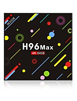 Недорогие -H96 Max 4G+64G Android 7.1 TV Box RK3328 Quad-Core 64bit Cortex-A53 4GB RAM 64Гб ROM Octa Core
