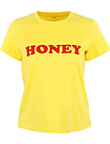 abordables -Tee-shirt Femme, Lettre Basique