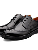 cheap -Men's Shoes Nappa Leather Spring Fall Comfort Oxfords for Casual Party & Evening Black