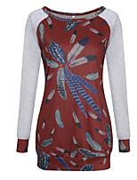 preiswerte -Damen Blumen-Aktiv Grundlegend T-shirt Druck