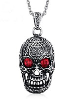 cheap -Men's Rhinestone Pendant Necklace - Vintage Skull Necklace For Party / Evening Daily