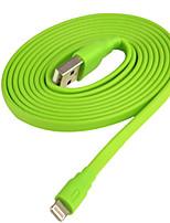 Недорогие -Подсветка Адаптер USB-кабеля Компактность Быстрая зарядка Назначение iPhone 150 cm Пластик