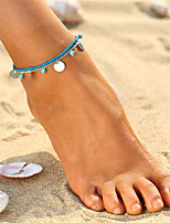 cheap -Bohemian Turquoise Anklet - Women's Gold Silver Vintage Bohemian Circle Acrylic Alloy Anklet For Bikini Going out