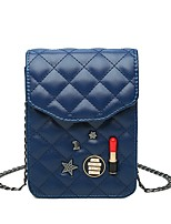 cheap -Women's Bags PU Shoulder Bag Appliques / Buttons for Shopping / Casual Black / Red / Beige