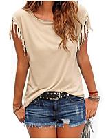 cheap -Women's Butterfly Sleeve T-shirt - Solid, Basic