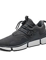 Недорогие -Муж. обувь Ткань Весна Осень Удобная обувь Кеды для Повседневные Черный Серый Хаки