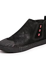 baratos -Homens sapatos Pele Primavera Outono Conforto Tênis para Casual Ao ar livre Preto