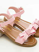 cheap -Girls' Shoes Patent Leather Summer Flower Girl Shoes Sandals Hook & Loop Flower for Casual Dress Yellow Pink