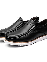 cheap -Men's Shoes Leather Spring Fall Comfort Loafers & Slip-Ons for Casual Office & Career Black