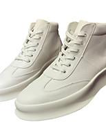 Недорогие -Муж. обувь Микроволокно Зима Осень Флисовая подкладка Кеды для Повседневные на открытом воздухе Белый Черный Красный