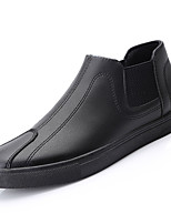 cheap -Men's Shoes Nappa Leather Spring Fall Comfort Loafers & Slip-Ons for Outdoor Black