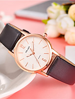 cheap -Women's Quartz Fashion Watch Chinese Casual Watch Leather Band Colorful Fashion Black White Blue Red Brown Grey Rose