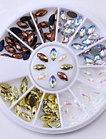 cheap -2 Nail Jewelry Nail Glitter Diamond Sparkling Event/Party Dailywear Nail Art Design
