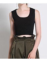 cheap -Women's Polyester Tank Top - Solid