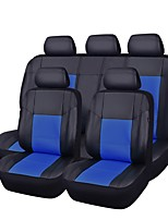 cheap -Car Seat Covers Seat Covers Black Red Beige Gray Blue PU Leather Business for universal Universal