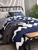 abordables -Ensembles housse de couette Géométrique 3 Pièces Polyester/Coton 100% Coton Imprimé Polyester/Coton 100% Coton 1 x Housse de couette 1 x