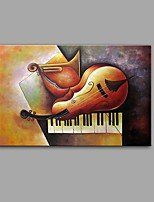 cheap -Hand-Painted Abstract Still Life Horizontal, Comtemporary Modern Canvas Oil Painting Home Decoration One Panel