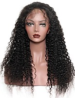 cheap -Unprocessed Lace Front Wig Brazilian Hair Curly With Baby Hair 130% Density Natural Hairline Short Long Mid Length Women's Human Hair