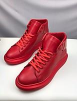 Недорогие -Муж. обувь Полиуретан Весна Осень Удобная обувь Кеды для Повседневные Белый Красный